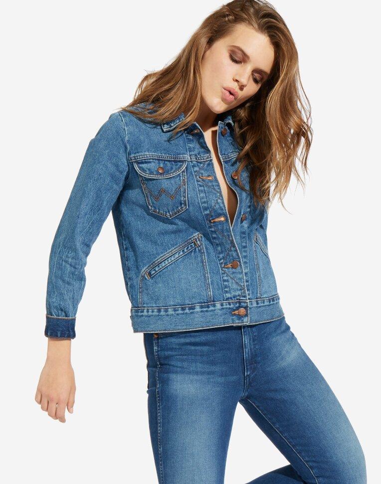 6aa864fec6d Куртка джинсовая женская Wrangler W4WJUG925